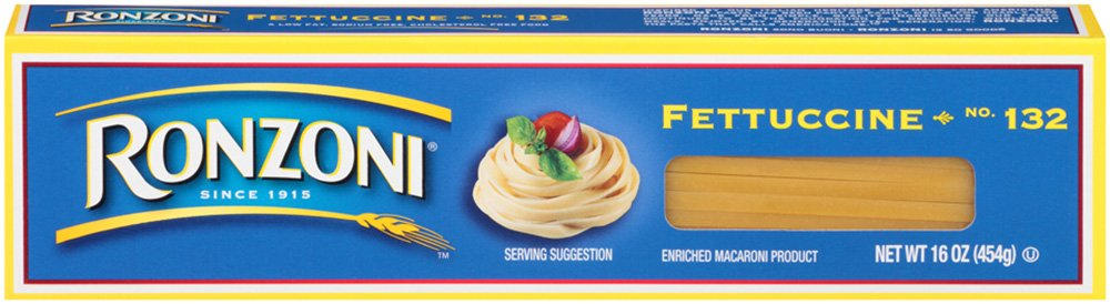 Ronzoni Fettuccine, 16-Ounce (Pack of 20)