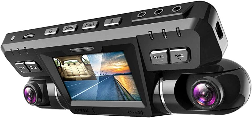 Elventek Car Dash Cam Full Hd 1080p 170 Wide Angle Dual Dash Cam Front And Back Night Vision Parking Clock With Wifi G Sensor Wdr Loop Recording Gps Tracking Sport Freizeit