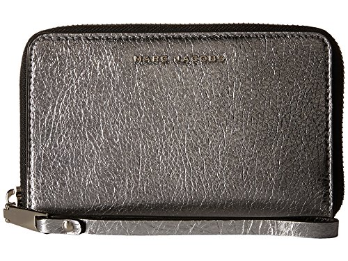Marc Jacobs Wingman Zip Phone Wristlet, Acciaio Multi