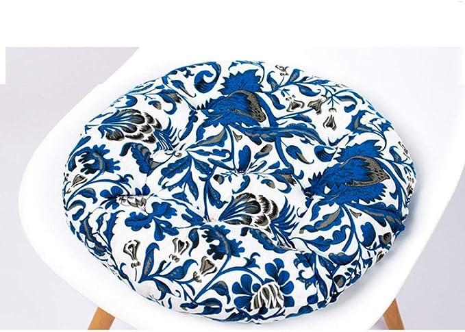Smileyshy Cuscino per sedie Rotondo Spesso in Cotone Lino Tappetino per Tatami Semplice per LUfficio dinverno