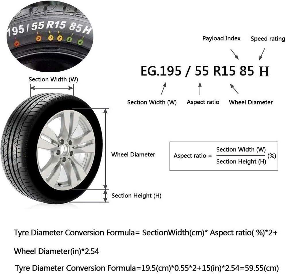 4 St/ück Queta Auto Reifentaschen Set f/ür 13-17 Zoll Auto Reifen Reifens/äcke mit Reifenposition Aufdruck und Griff