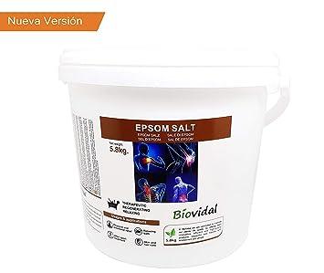 Envio 24h Sal de Epsom Biovital 5.8 Kg, Fuente concentrada de Magnesio, Sales 100% Naturales. Baño y Cuidado Personal. (5.8kg): Amazon.es: Belleza
