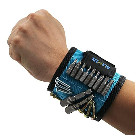 Magnetic Wristband, BLENDX Men Gifts Tool with Strong Magnets for Holding Screws, Nails, Drill Bits Cool Tools for Father's Day Gift for Him, Men, Husband, Dad, Boyfriend, Guys, DIY-er