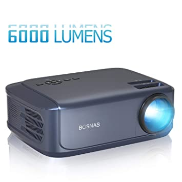 BOSNAS Proyector Full HD 6000 Lúmenes Soporta 1920 x 1080P ...