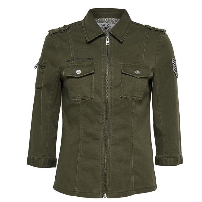 ONLY Damen Jacke 3 4 Arm Übergangsjacke Sommer Bluse AMY 3 4 Shirt Oliv 09cc31442f