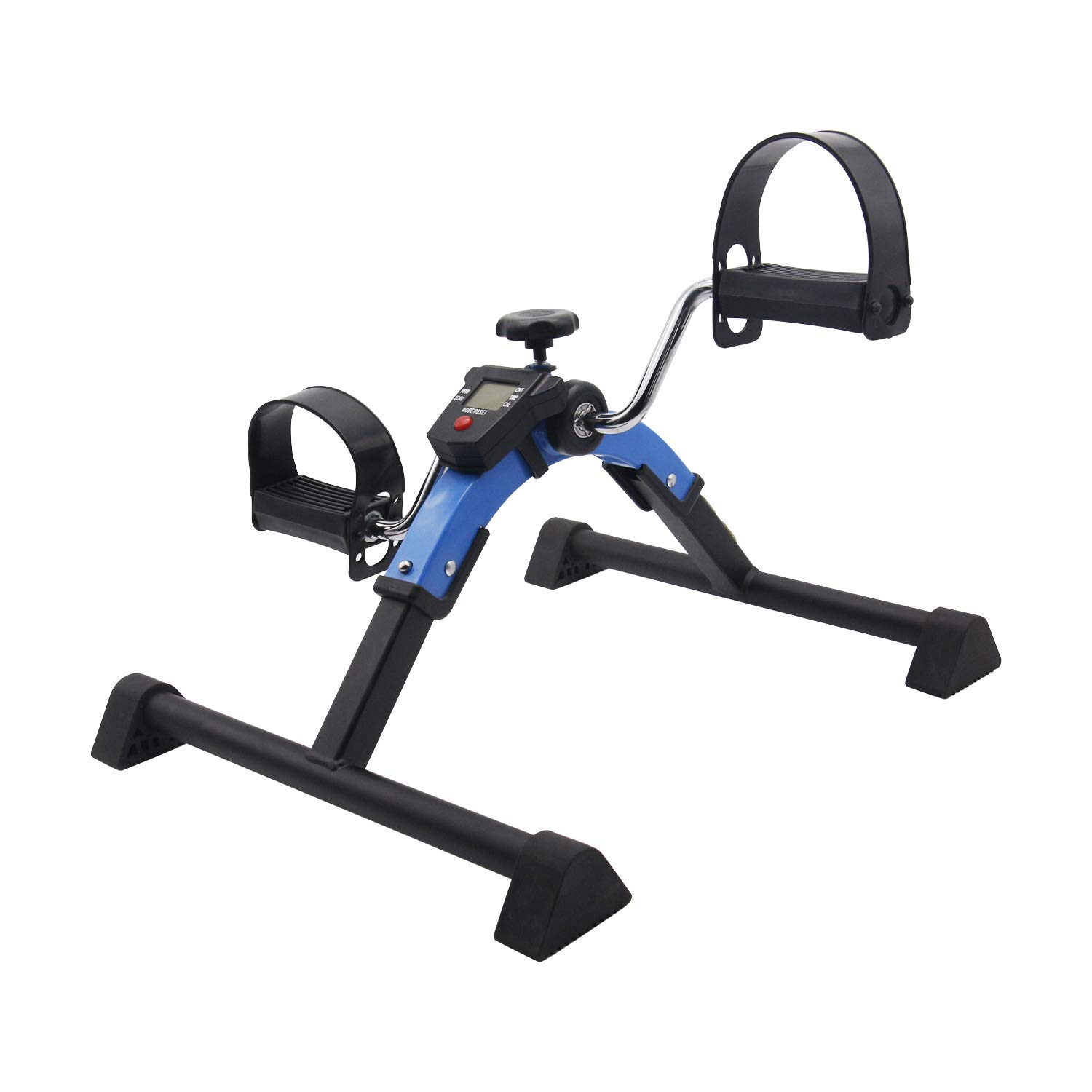 Friday discount Stationary Exercise Bike Indoor Under Desk Pedal Exerciser with LCD Monitor and Adjustable Resistance Fitness Foot Bike Blue by Friday discount (Image #2)