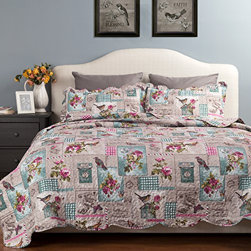 Butterfly bird bedspread