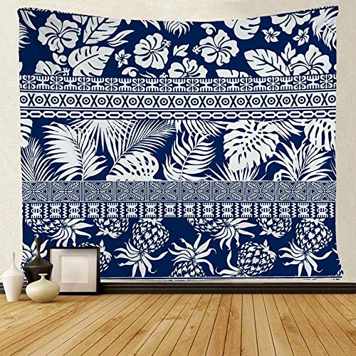 (SARA NELL Tapestry Mandala Hippie Bohemian Tapestries Hibiscus Tropical Leaves Hawaiian Wallpaper Tapestry Wall Hanging Indian Dorm Decor for Living Room Bedroom (51.2 x 59.1 inches))