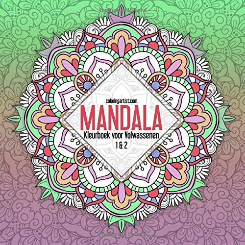 Verrassend Amazon.com: Mandala Kleurboek voor Volwassenen 1 & 2 (Mandala's GV-21