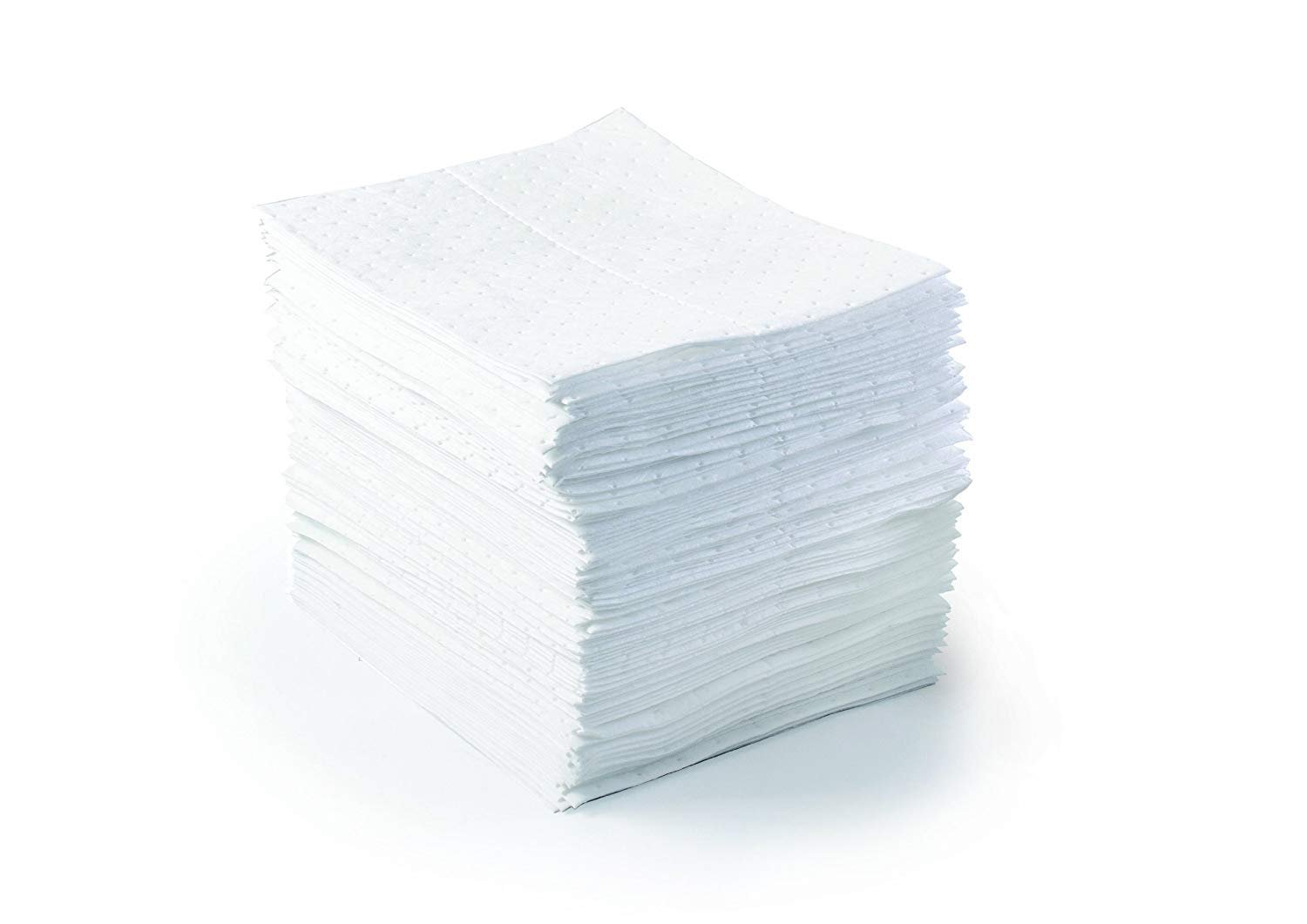 SPC BPO500 BASIC 17'' Length, 15'' Width, White Color Oil Only Light Weight Pad (2 X Pack of 100) by Brady SPC (Image #2)