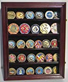 Lockable Military Challenge Coin Display Case Rack Wall Cabinet Coin30