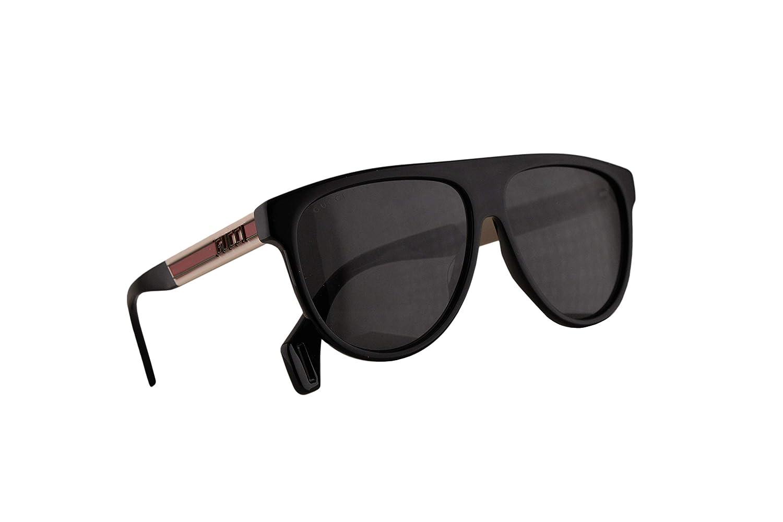 25db8c4d3268 Amazon.com: Gucci GG0462S Sunglasses Black White w/Grey Lens 58mm 002  GG0462/S 0462/S GG 0462S: Clothing