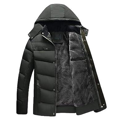 BaZhaHei Manteau Homme Hivers épais Homme Hiver Chaud Plus Velours Manteau  à Capuche Homme Veste Réchauffement 457595cd70a0