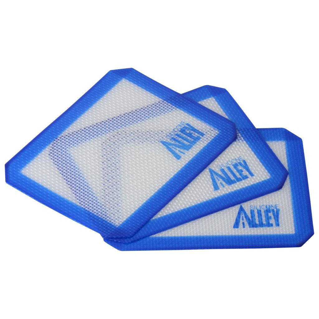 Small Rectangle 5 X 4 Inch Blue SILICONE ALLEY 3 Non-Stick Silicone Mat Pad