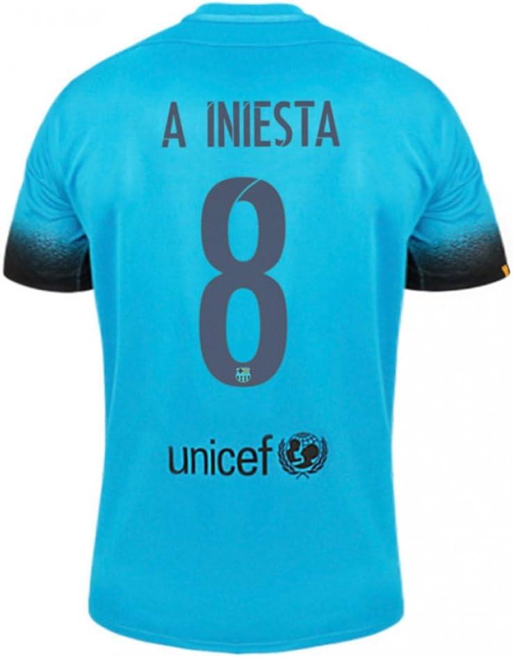 Nike niños Barcelona estadio Jersey [LT CURRENT BLUE], A.Iniesta 8: Amazon.es: Deportes y aire libre