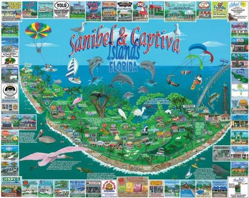 White Mountain Puzzles Sanibel & Captiva - 1000 Piece Jigsaw Puzzle