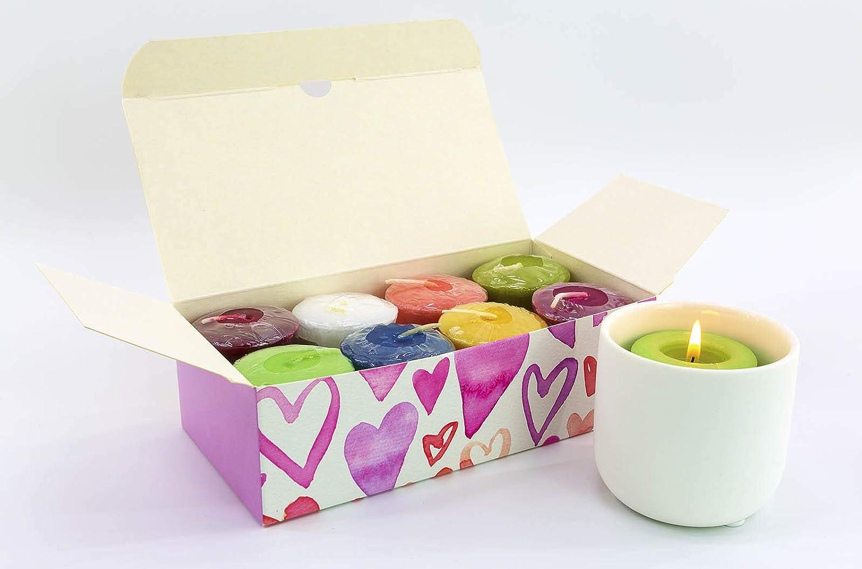 Yankee Candle 8 x Herzon Votives-Geschenkbox con Votivkerzenhalter