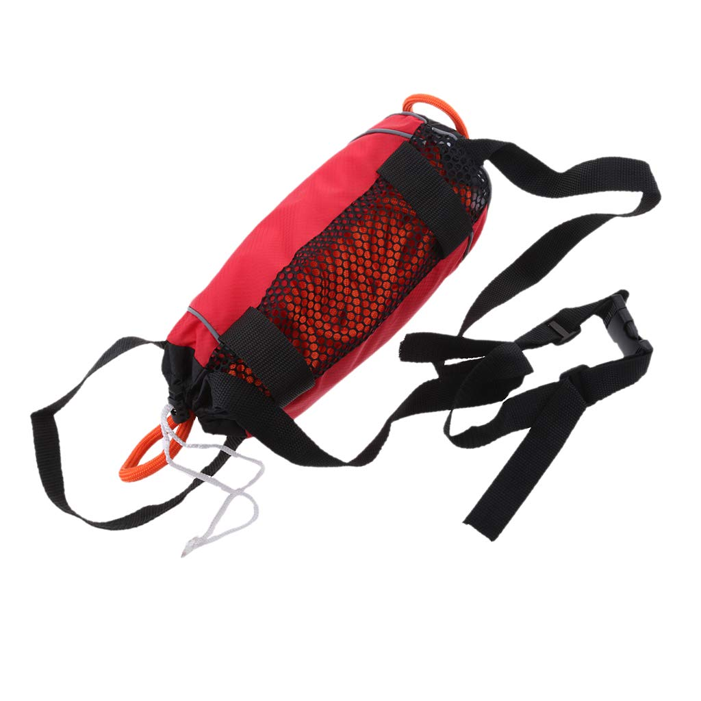 Flameer Red 85ft Safety Water Reflective Rescue Throw Bag Floating Rope Line Kit by Flameer (Image #8)