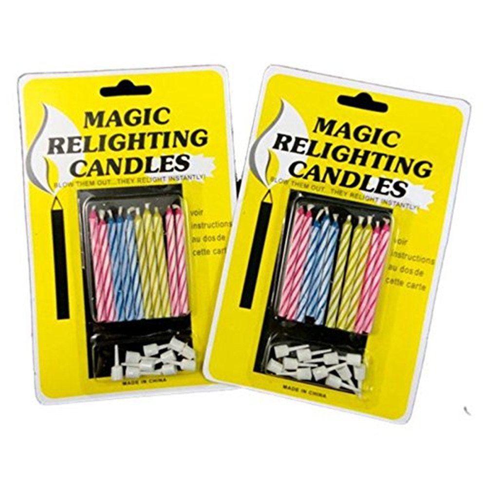 20pcs Funny Magic Trick Relighting Candle Birthday Cake Decors Party Joke Xmas Gift Wendy Mall