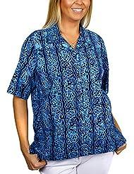 Artisan Outfitters Womens Riptide Batik Cotton Hawaiian Shirt