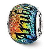 Top 10 Jewelry Gift Sterling Silver Reflections Aruba Orange Dichroic Glass Bead