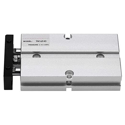 Aluminium Bore 16mm Stroke 175mm TN16x175-S Twin Rod Double Acting Air Cylinder