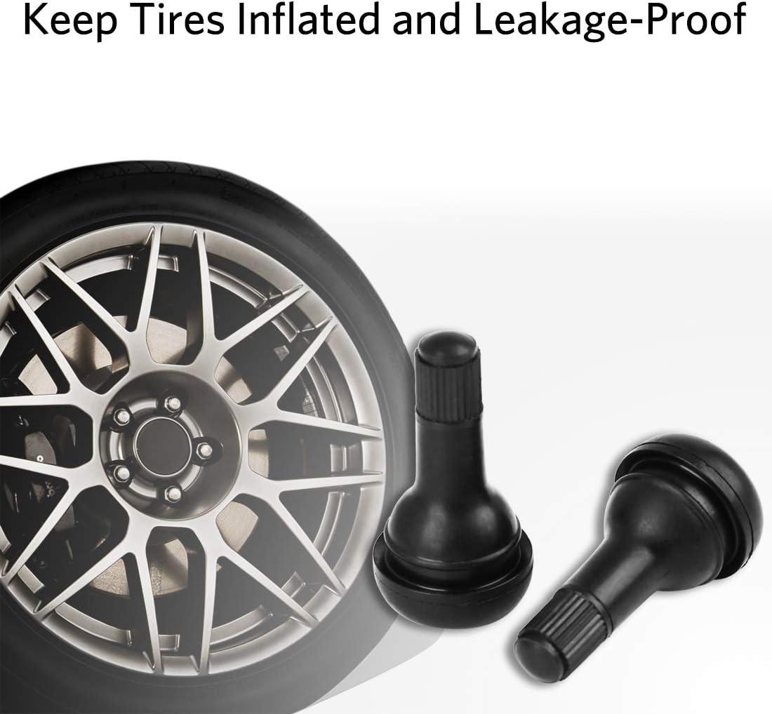 uxcell 10 PCS TR415 Rubber Valve Stem Caps Snap/in/Valve/Stems Black for Cars Trucks Motorcycles RV