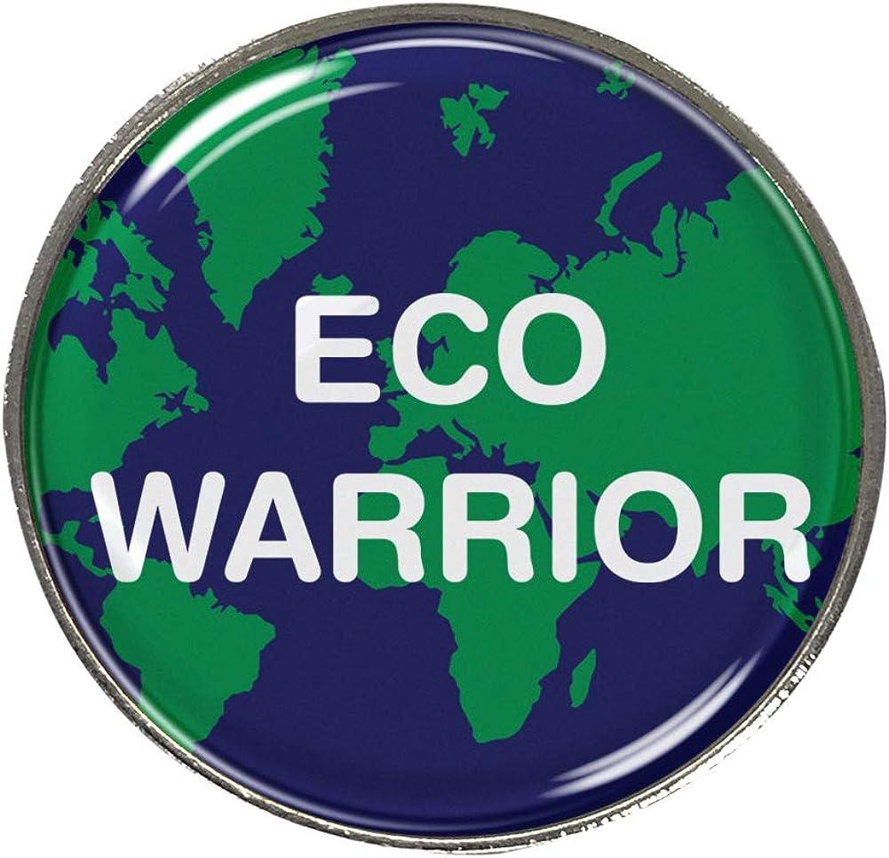 Capricornone Eco Warrior 27mm Round School Badge Green