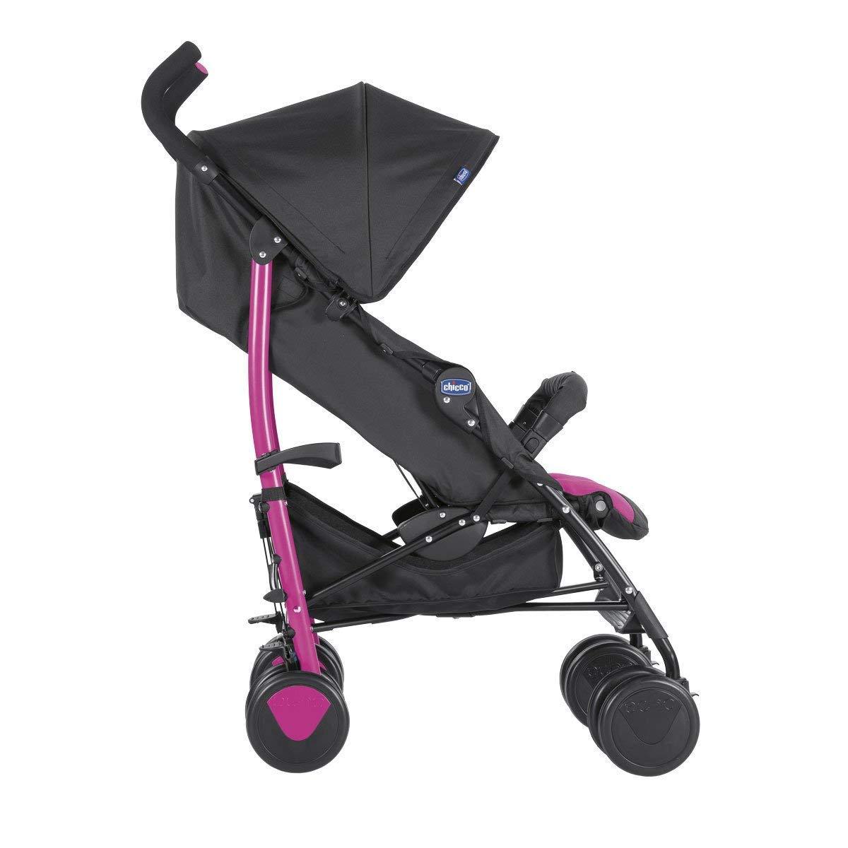 Chicco New Echo - Silla de paseo, ligera y compacta, color rosa, 7,6 kg: Amazon.es: Bebé