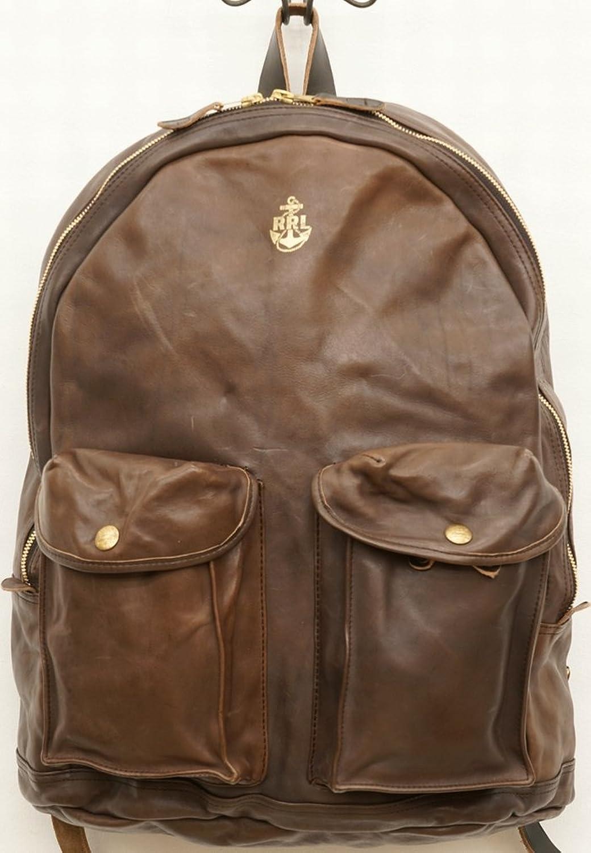 (ダブルアールエル) RRL レザー Mitchell バックパック ブラウン メンズ Leather Backpack 並行輸入品 [並行輸入品] B07DMYFHZ7