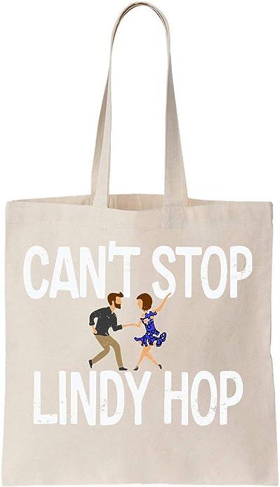 KRISSY Cant Stop Lindy Hop Algodón Bag Tote Bag: Amazon.es ...