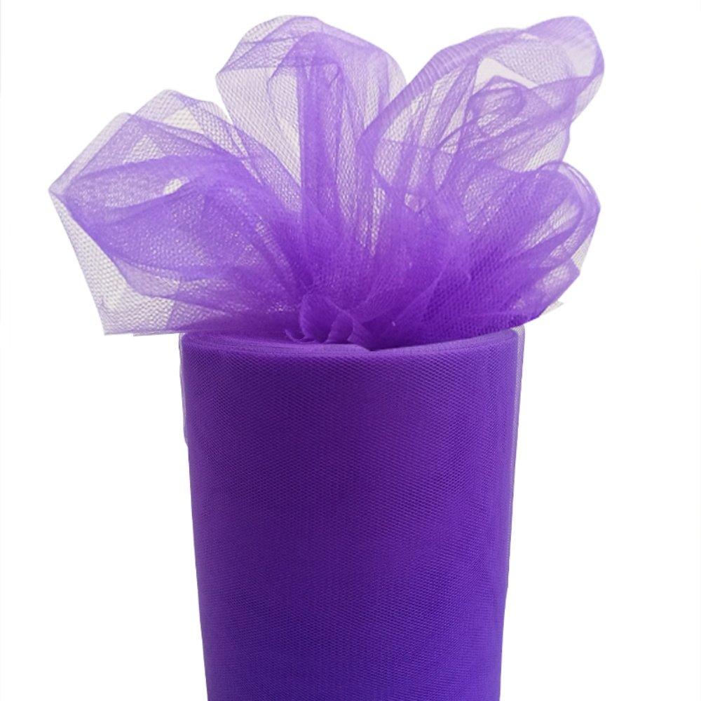 6 Zoll 100 yard (15cm x 91M) Tü ll Rolle Tü lldekostoff Tutu Ballettrock Hochzeit Party Crafts Geschenk Tü llband(Pink) Touch Global