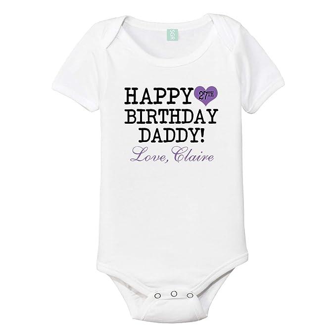 Happy Birthday Daddy Personalized Baby One Piece Custom Bodysuit Best Christmas Gifts 2018