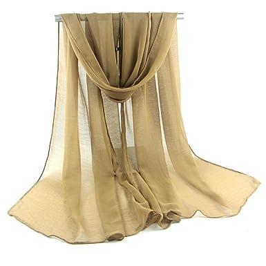 9e91a99fdf2 Demarkt Femme Longue Écharpe Châle Souple Couleur Unie Belle Elégant  Écharpe Accessoire pour Automne Hiver Coloris