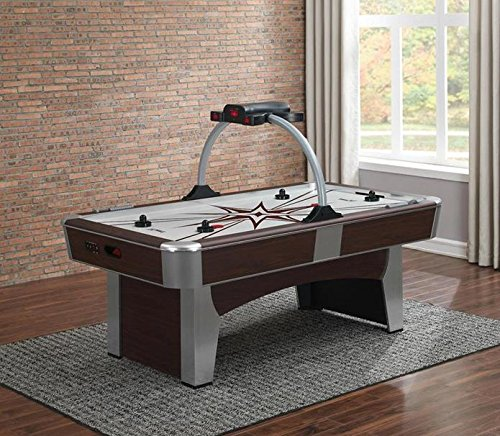 American Heritage 390074 Monarch Series Air-Hockey Table with Two-Player Electronic Scorer and Unique Overhead