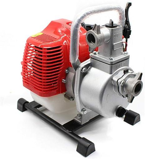 Vpabes Gas Wasserpumpe 2 5 Cm 1 7 Ps 2 Takt Benzin Wasser Transfer Hochdruckpumpe Für Bewässerungsbecken Landschaftsbau Gartenbewässerung Und Mehr Garten