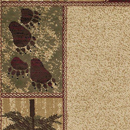 Rustic Floor Rugs: Rustic Lodge Black Bear 2x8 Area Rug, 23x77