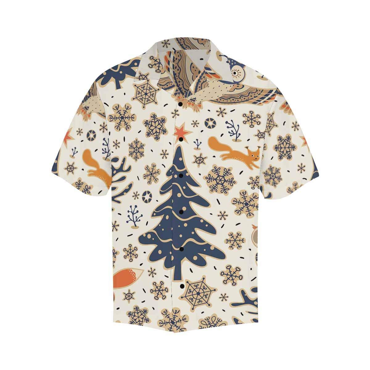 InterestPrint Casual Button Up Merry Christmas Background Short Sleeve Summer T Shirt