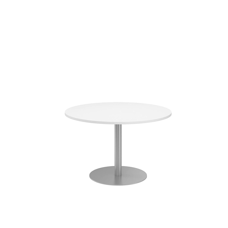 NOVA ECO High Quality Circular Meeting Table, Column Base, WHITE
