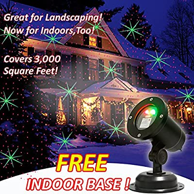EAMBRITE LED Snowflake Projector Light Decorated Snowflake Spotlight for Holiday Christmas Wedding Party