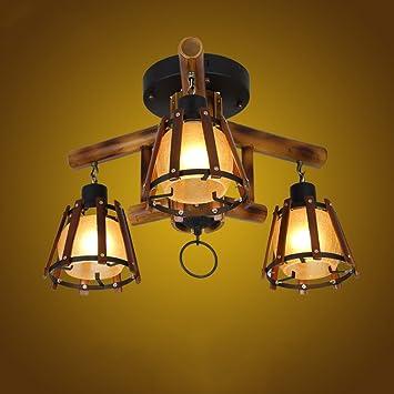 Lying Retro Lámpara De Techo De Bambú, Originalidad ...