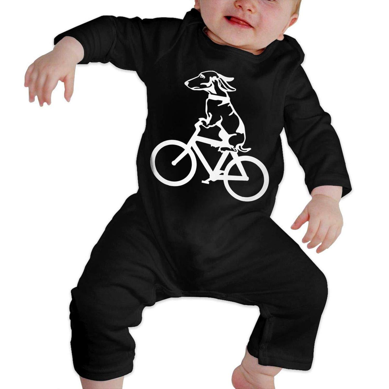 Zmli Dog Riding A Bike Cartoon Baby Boy Girl Long Sleeve Romper Jumpsuit Organic Coverall Onsies