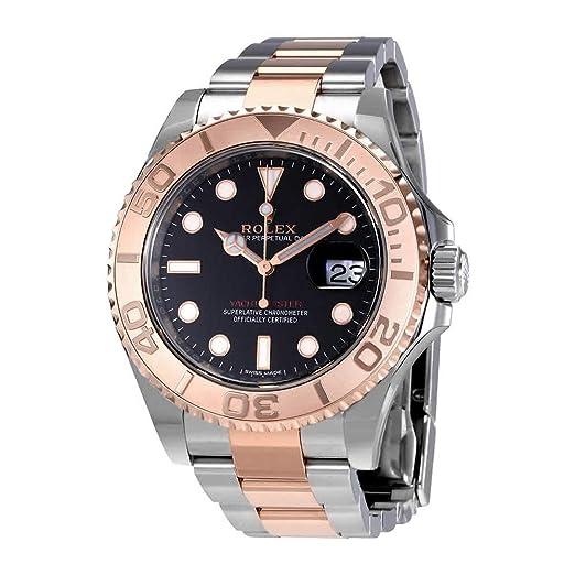 Rolex Yacht-Master 40 - Reloj automático para hombre, esfera negra 116621BKSO: Amazon.es: Relojes
