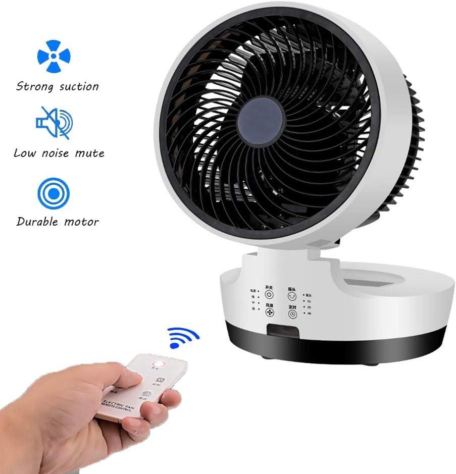 SDYBFS Ventilador De Escritorio,3 Configuraciones De Velocidad,Tecnología Silenciosa De Circulación del Aire Ciclónico, con Control Remoto, para El Hogar Y La Oficina