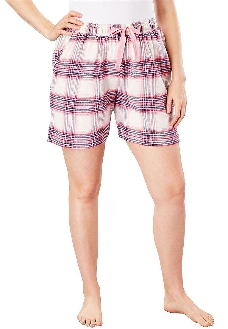 Dreams & Co. Women's Plus Size Flannel Pajama Shorts