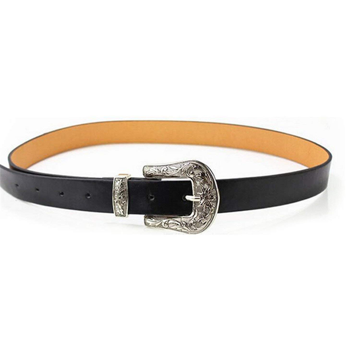 Mainstream Fashion Strap Metal Pin Buckle Jeans Leather Belt For Women accessories,OneSize,SingleMetalBuckle