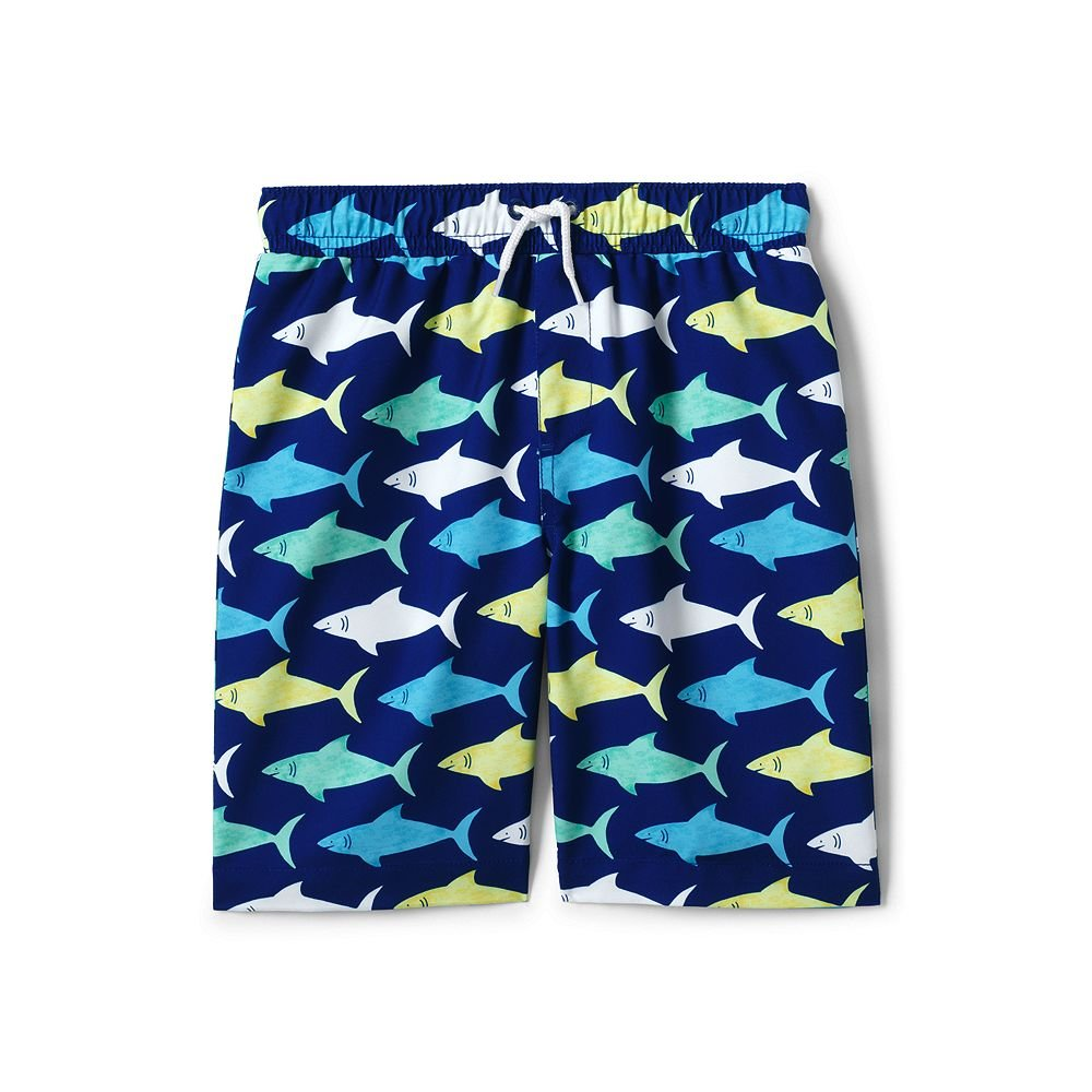 Lands' End Little Boys Printed Swim Trunks classic