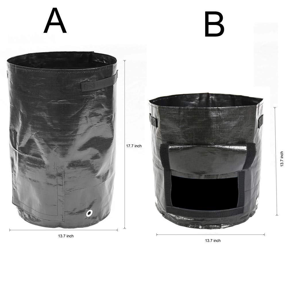 2 Tamaños Residuos Orgánicos Jardín Yarda Bolsa de Compost ...