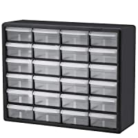 Akro-Mils 10124 24 Drawer Plastic Parts Storage Hardware and Craft Cabinet, 20-Inch...