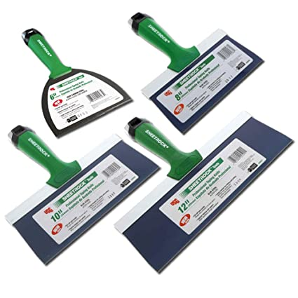 USG Sheetrock Pro Series Blue Steel Drywall Taping Knife with Matrix Style  Handle (4-Piece 6